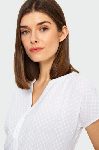 Bawełniana, rozpinana bluzka