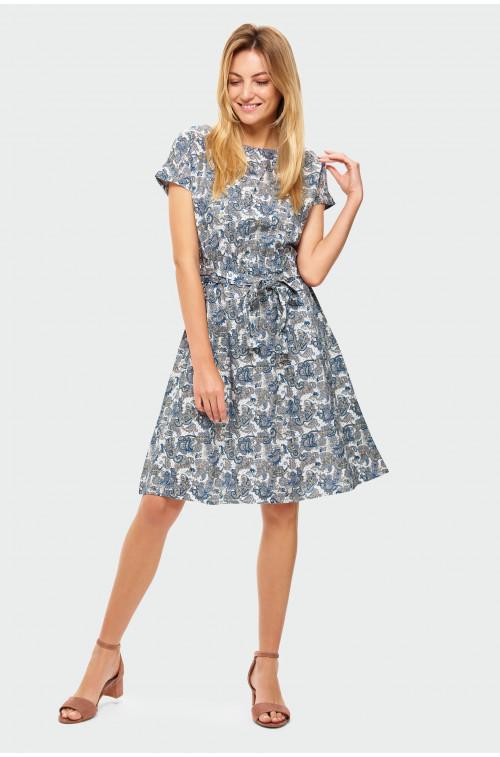 Wiskozowa Luźna sukienka