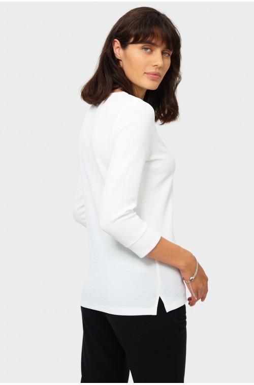 Elegancka bluzka z dzianiny strukturalnej