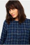 Elegancki płaszcz z motywem kraty