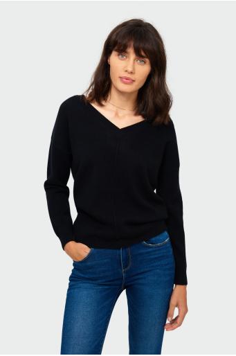 Sweter o luźnym kroju z miękkiej dzianiny