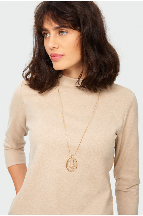 Elegancka dzianinowa bluzka ze stójką