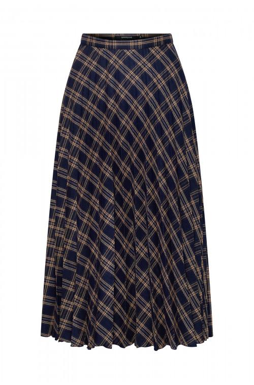 Plisowana spódnica w kratę