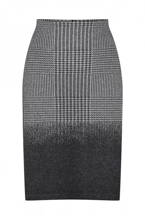 Ołówkowa spódnica z nadrukiem