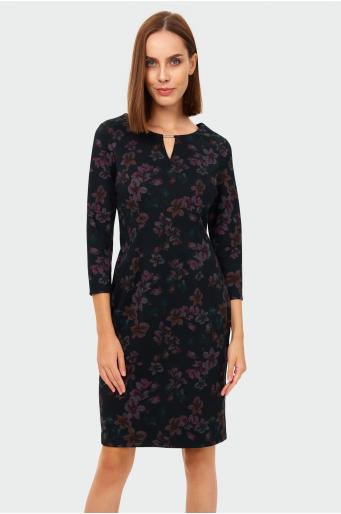 Ołówkowa sukienka z nadrukiem