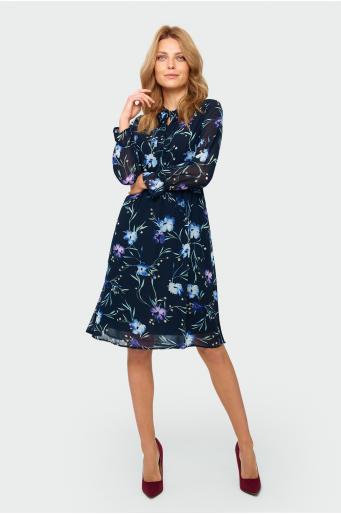 Elegancka sukienka z nadrukiem