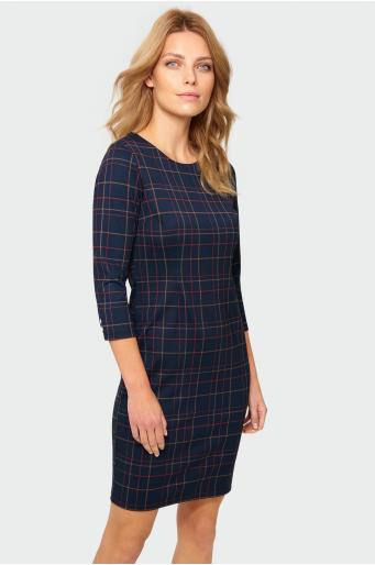 Sukienka o dopasowanym kroju w kratę