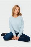 Sweter o luźnym kroju z błyszcząca nitką