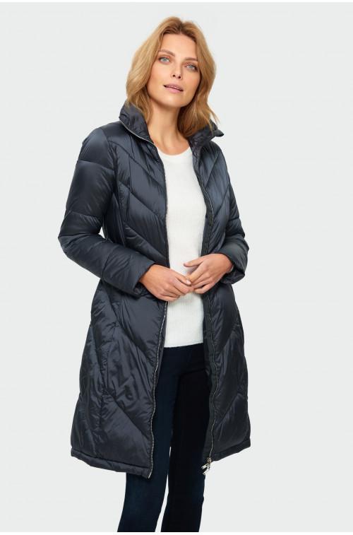 Pikowanym płaszcz ze stójką
