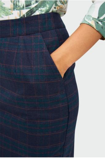 Ołówkowa spódnica w kratę