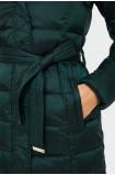 Ciepła pikowana kurtka z chowanym kapturem
