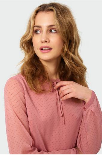 Elegancka bluzka z ozdobną riuszką