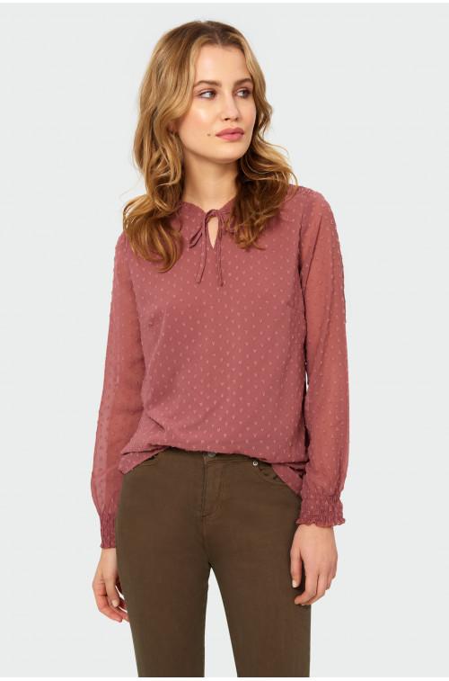 Elegancka bluzka z tkaniny strukturalnej