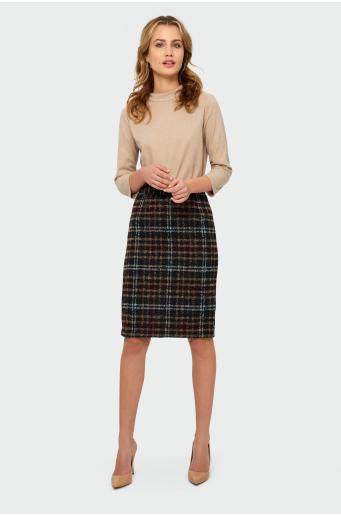 Ciepła spódnica ołówkowa