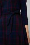 Elegancka sukienka w kratę