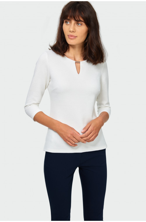 Elegancka dzianinowa bluzka