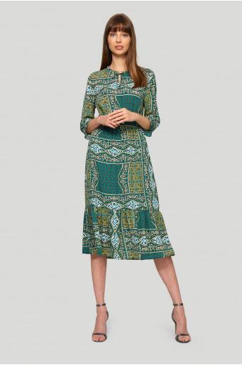 Zwiewna sukienka z nadrukiem