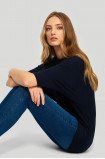 Sweter z ażurowym wzorem