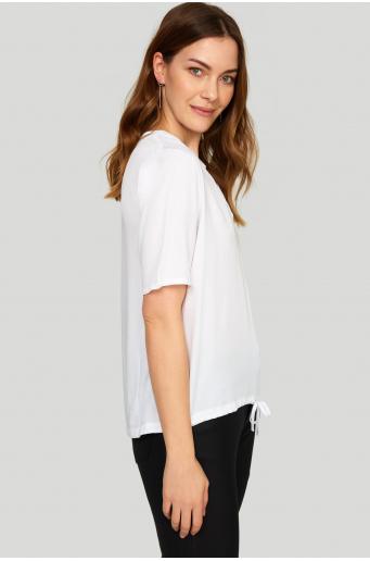 Wiskozowa bluzka z dekoltem V
