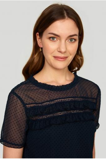 Elegancka bluzka z ozdobna koronką