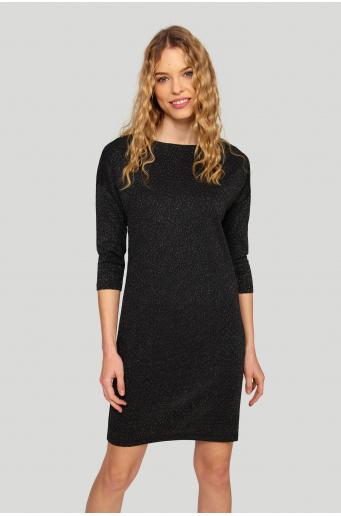 Sukienka o luźnym kroju z błyszczącą nitką
