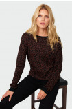 Sweter o luźnym kroju z błyszczącą nitką