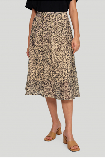 Elegancka spódnica z nadrukiem