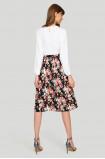 Elegancka plisowana spódnica z nadrukiem