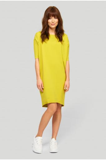 Dzianinowa sukienka o luźnym fasonie