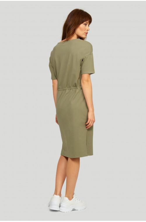 Dzianinowa, bawełniana sukienka