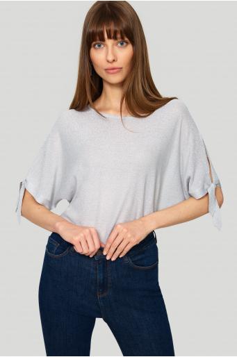 Elegancki sweter z połyskiem
