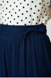 Wiskozowa spódnica z paskiem