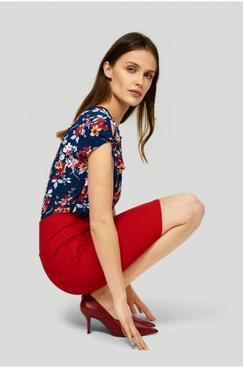 Bawełnina spódnica z paskiem