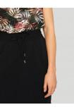 Wiskozowa spódnica z kieszeniami