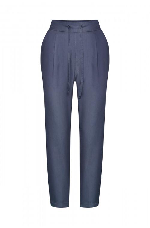 Spodnie z lyocell'u z troczkiem