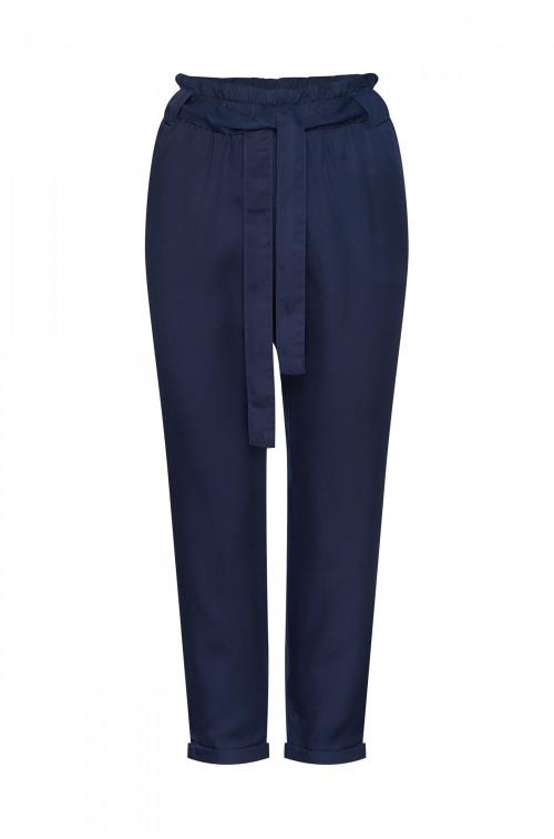 Spodnie z lyocell'u z paskiem