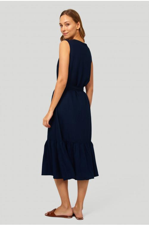 Wiskozowa sukienka, zapinana na guziki