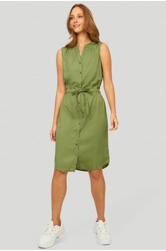Sukienka z lyocell'u z wiązaniem w pasie