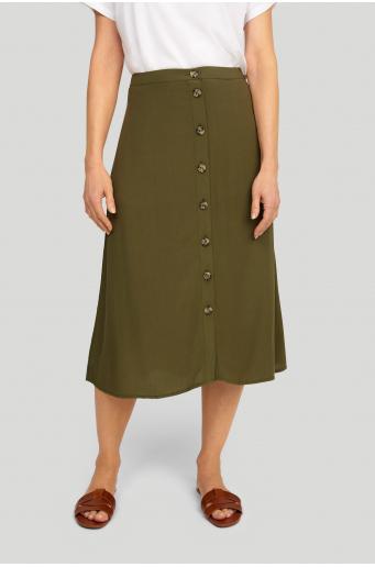 Wiskozowa spódnica zapinana na guziki
