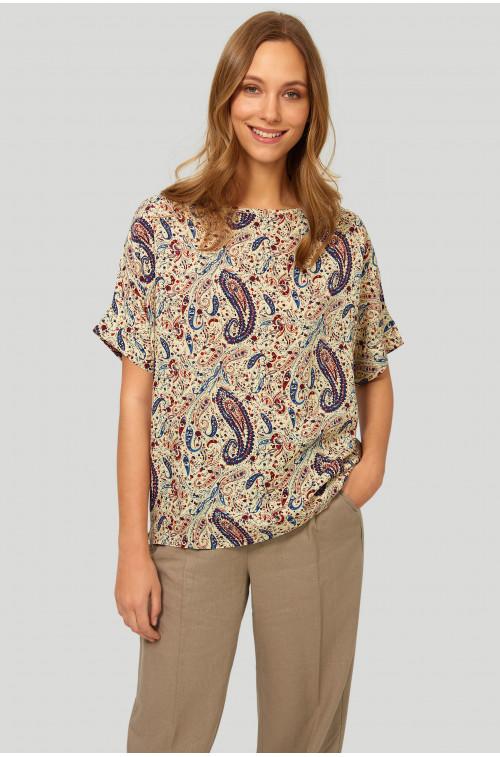 Wiskozowa bluzka o luźnym fasonie