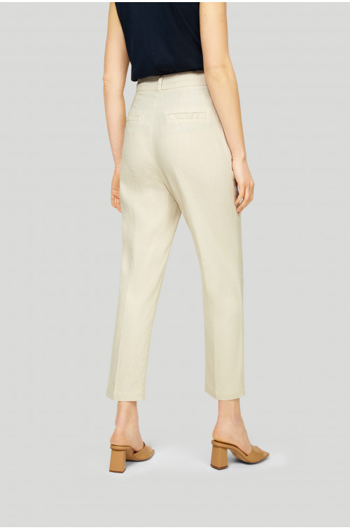 Eleganckie, lniane spodnie