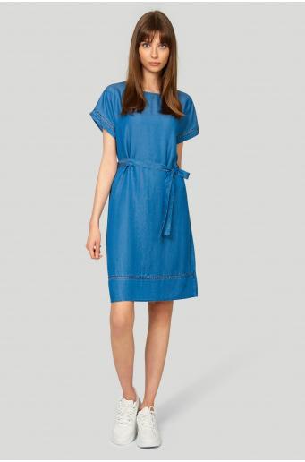 Sukienka z lyocell'u o prostym fasonie
