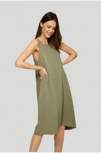 Wiskozowa sukienka o luźnym fasonie