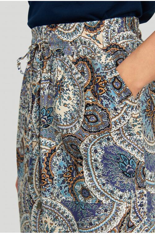 Wiskozowa spódnica z nadrukiem