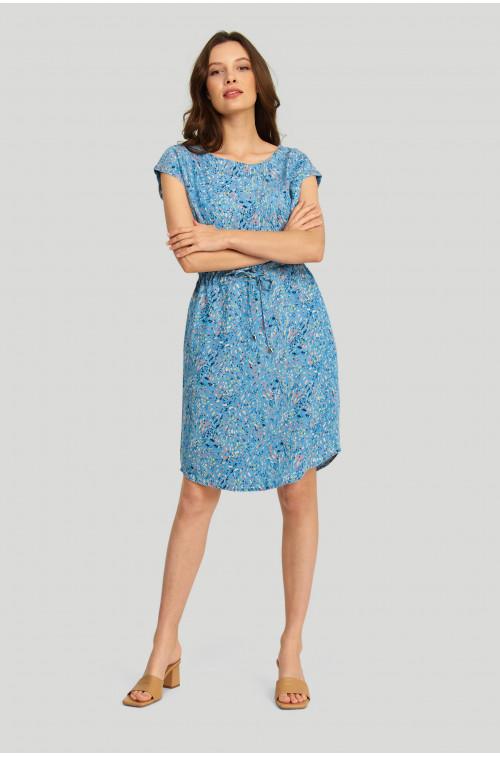 Sukienka z lyocell'u z nadrukiem