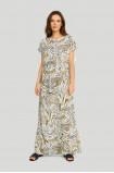 Wiskozowa sukienka z nadrukiem