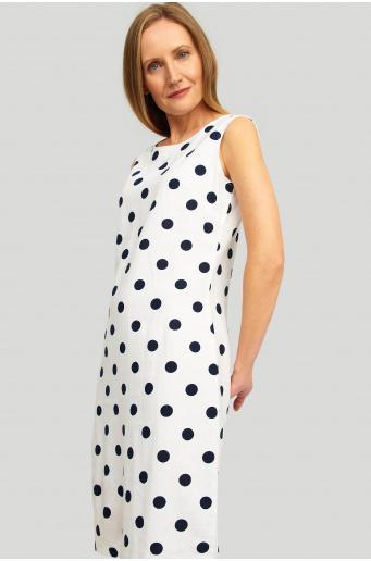 Lniana sukienka z nadrukiem