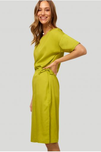 Sukienka z lyocell'u o luźnym fasonie