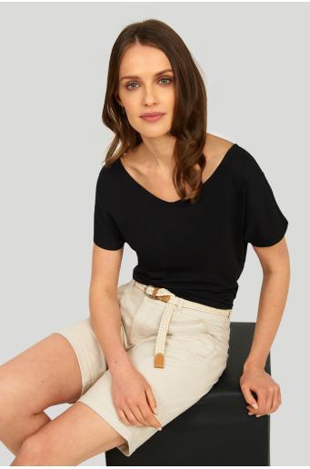 Bawełniane szorty z paskiem