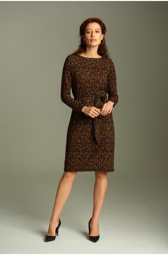 Sukienka z miękkiej dzianiny z nadrukiem